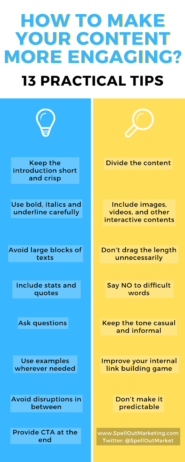 how to make content more engaging on your blog, website using the right types of contents and content strategy