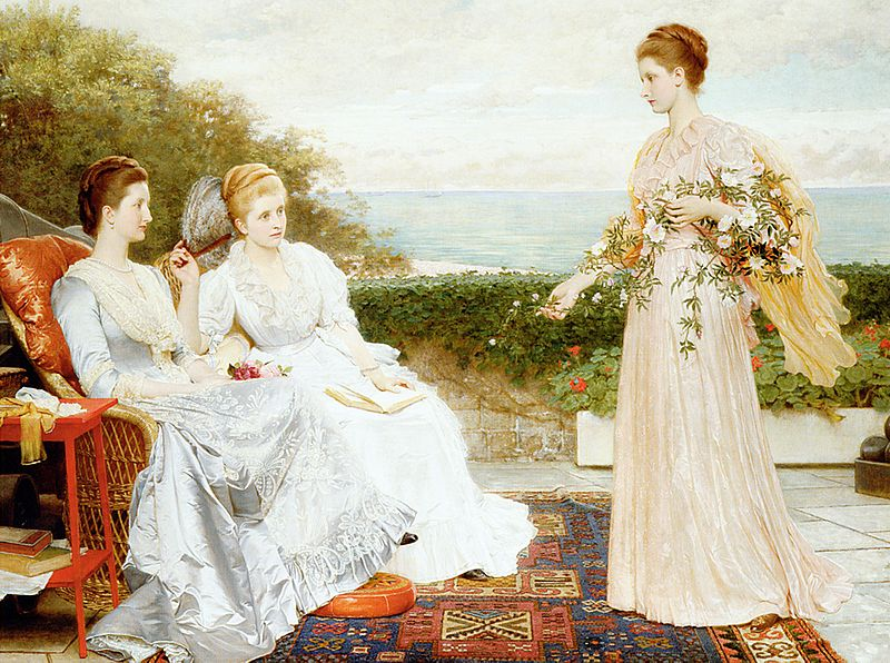 Home Living: Fabric in Paintings of the Victorian Era
