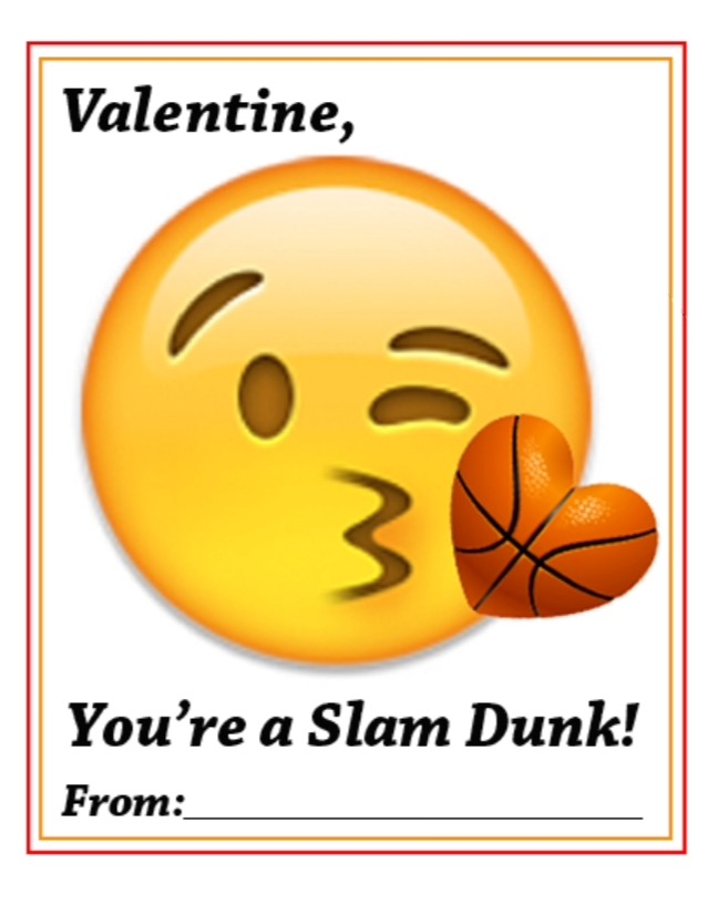 Confessions Of A Sports Mama Basketball Emoji Valentine S Day Cards