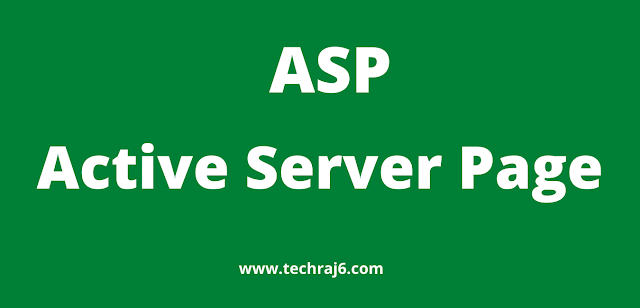 ASP full form, What is the full form of ASP