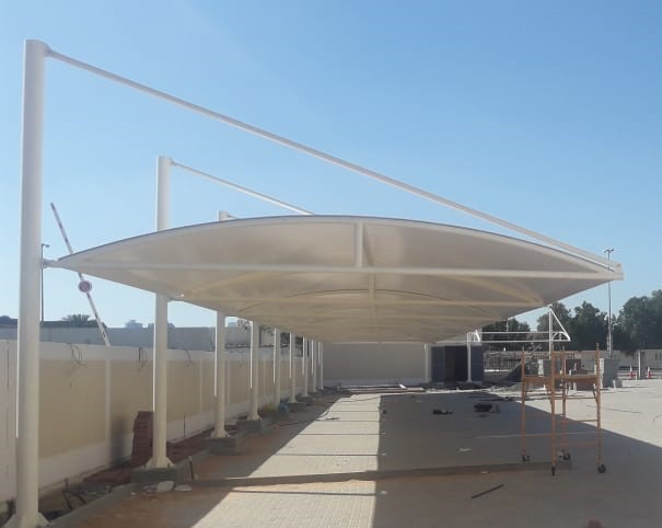 cantilever -car -parking -shade