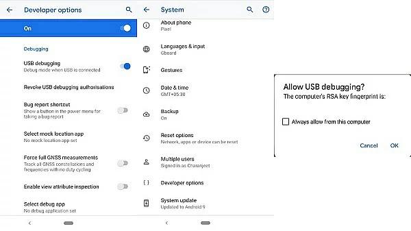 تمكين تصحيح أخطاء USB على جهازك الأندرويد