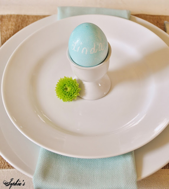 Easter Spring Table Place Setting