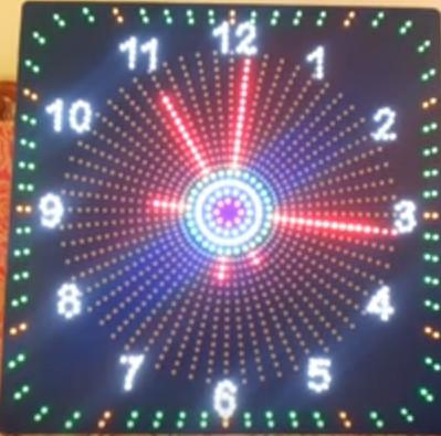 Đồng hồ led kim viền