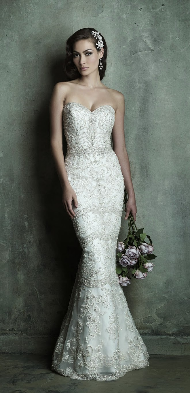 allure couture spring bridal collection fitted lace wedding dress