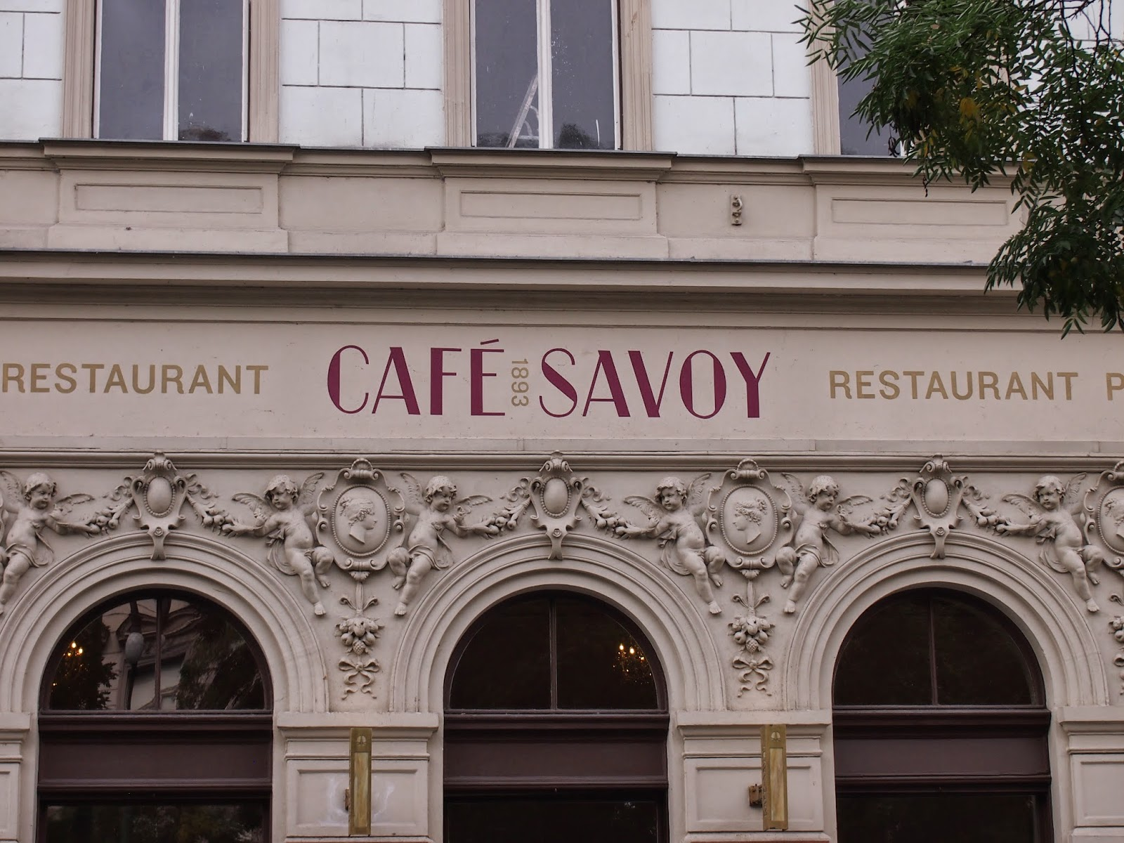 The exterior of cafe savoy