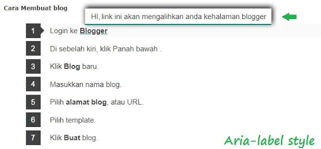 Cara Menggunakan Aria (Atribut HTML)