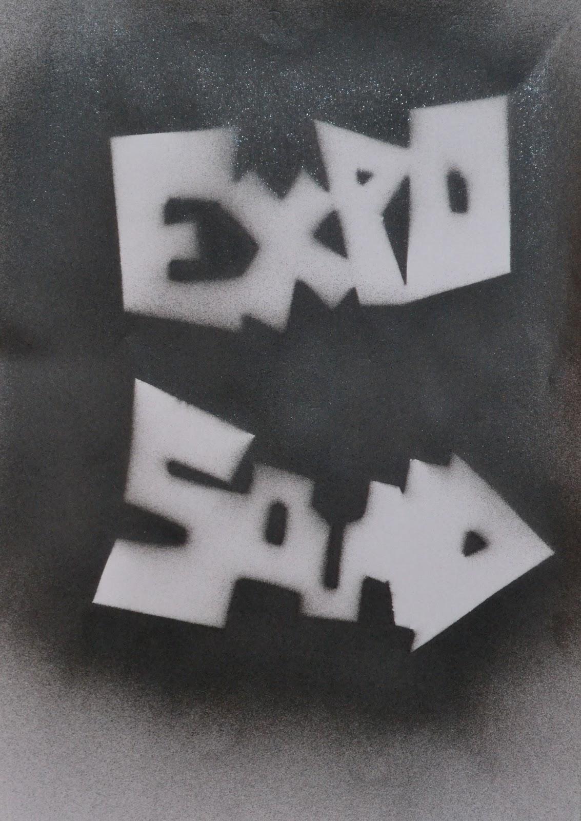 Katie Elizabeth Back Graphics: Spray Paint Experiments