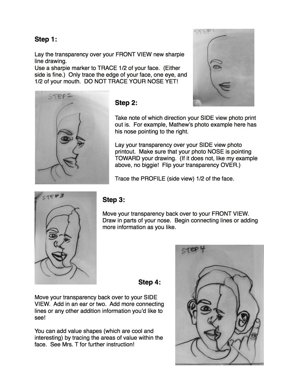Project Art A Day Lesson Cube Yo Face Aka Picasso