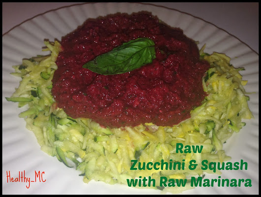 RAW ZUCCHINI & SQUASH WITH RAW MARINARA
