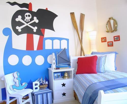 Dormitorio de piratas cuarto para ni os con decoracion de - Dormitorios para ninos ...