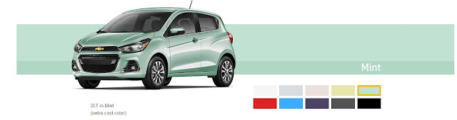2017 Chevrolet Spark Mint color