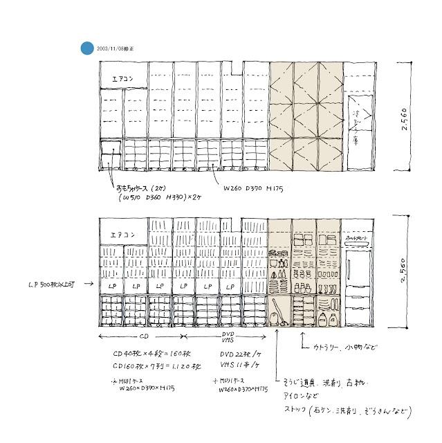 狭小都市型二世帯住宅の収納計画をとおして 収納計画 子世帯 リビング・ダイニング・キッチンまわり