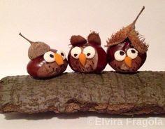 Bricolage d'automne avec des marrons