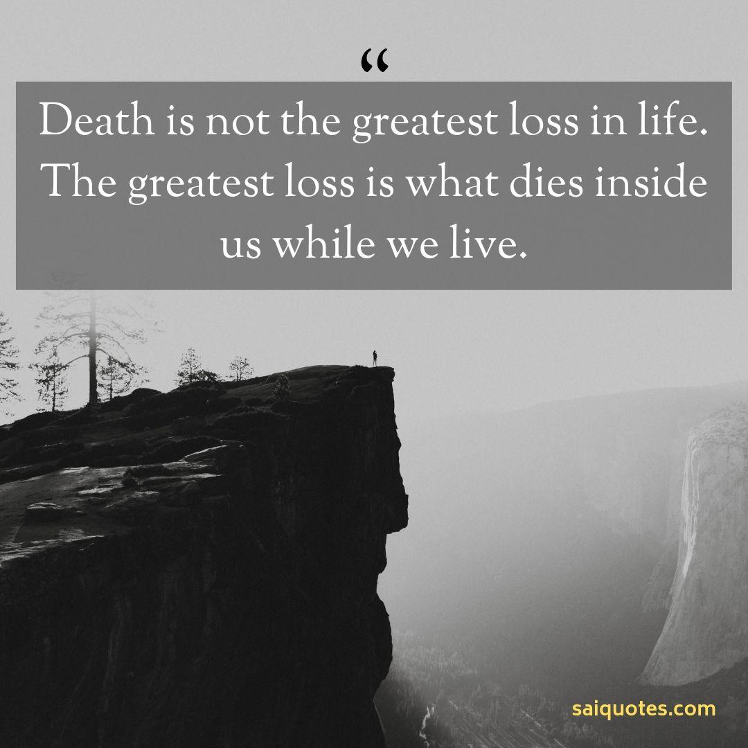 Sai Quotes: Death Quotes