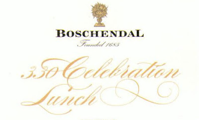 Boschendal menu header A Vintage day at the 330th Anniversary of Boschendal