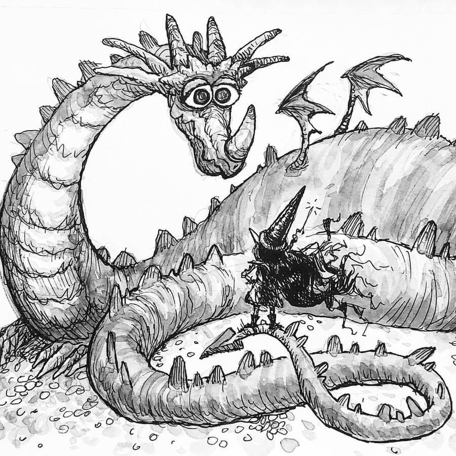 03-Maggie-the-Magus-and-dragon-MS-Armstrong-www-designstack-co