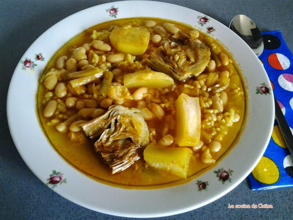 Alubias con arroz  La cocina de Catina