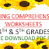 4th & 5th Grades Reading Comprehension Worksheets