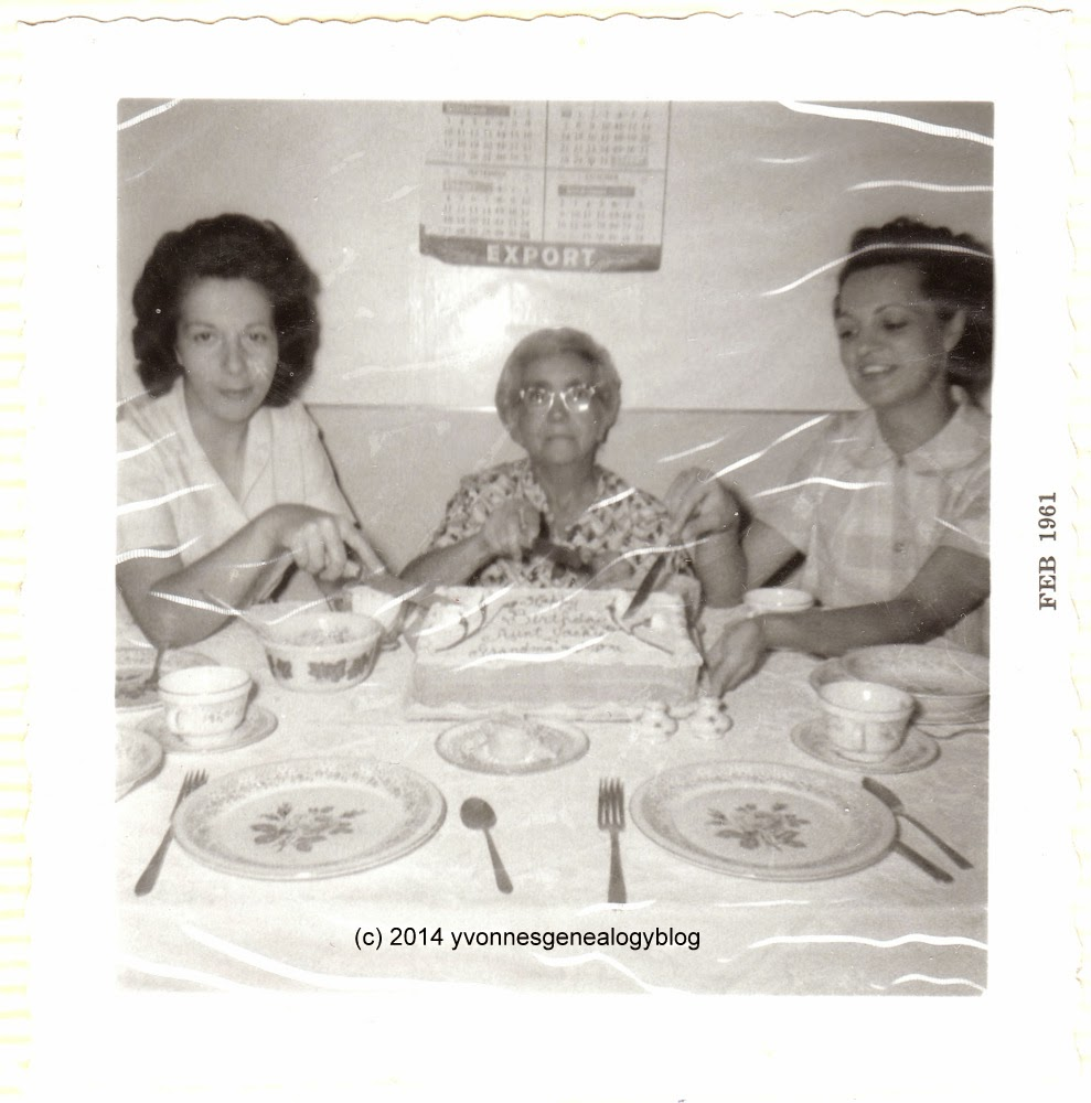 Birthday photo of Jacqueline, Julie and Joan