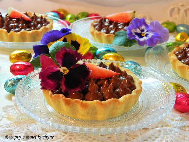 Tartaletky s čokoládovo-lieskovcovým mascarpone krémom