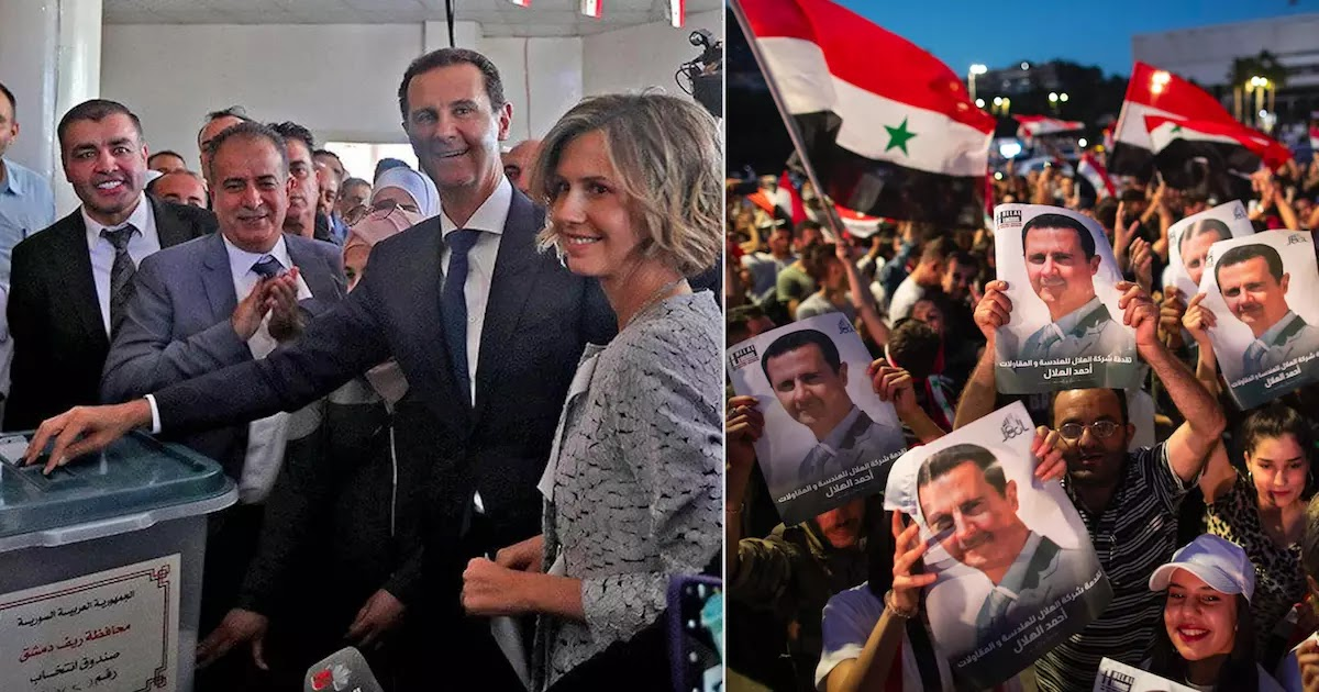 Syrian President Bashar Assad Wins Re-Election With 95.1% Of The Votes