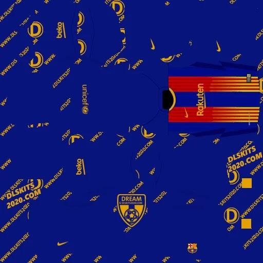 Dls kits Barcelona 2021-2022 in La Liga and Dls kit barca (home)
