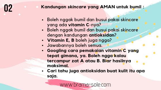 kandungan zat yang aman dalam skincare untuk bumil dan busui