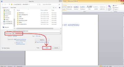 Convert Word To PDF menggunakan microsoft