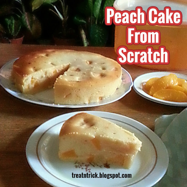 Peach Cake From Scratch Recipe @ treatntrick.blogspot.com