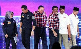 Hasil Quick Count Pilkada DKI Jakarta 2017: Agus, Ahok, Anies