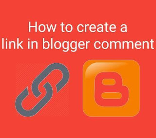 How to create a link in blogger comments