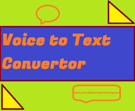 Online Voice to Text Converter