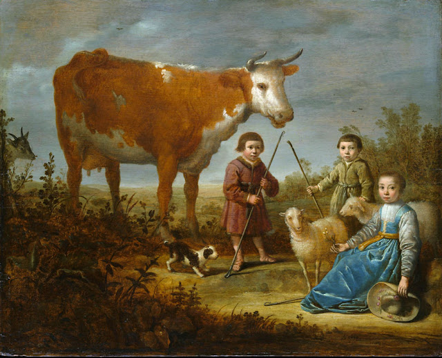 Альберт Кёйп - Дети и корова. 1635-39