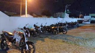 38 motos são apreendidas em operação contra poluição sonora, em Jaguaquara