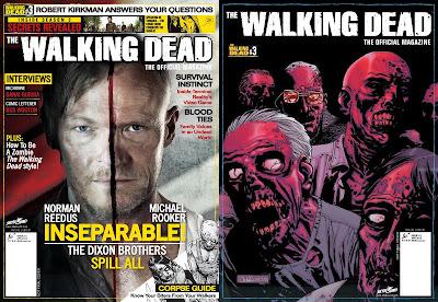 The Walking Dead Official Magazine, le cover del numero 3 (la variant è a destra)