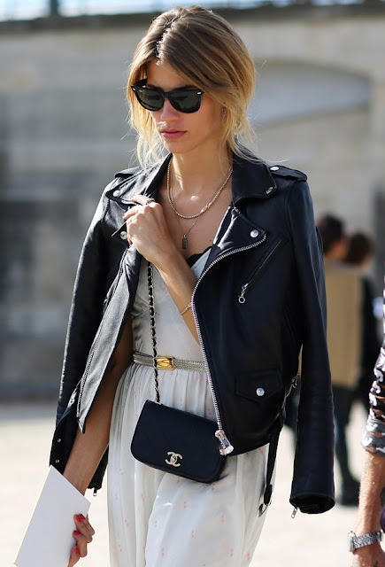 saint laurent leather jacket women
