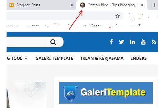 Cara Mengganti Gambar Favicon Blog di Blogger Versi Baru
