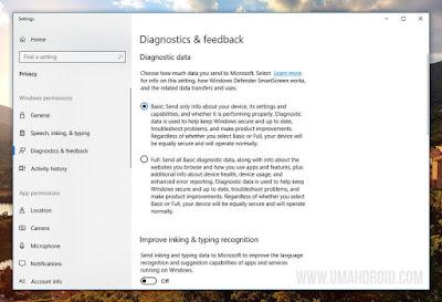 Diagnostic & Feedback Windows 10