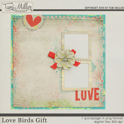 Winter Sale at Scrapgirls 40% off, Love Birds and a Freebie!