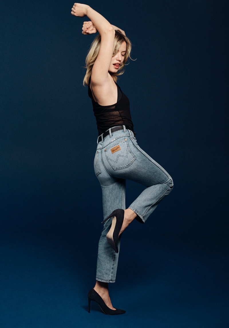 Georgia May Jagger stars in Wrangler Heritage Collection spring-summer 2021 campaign.