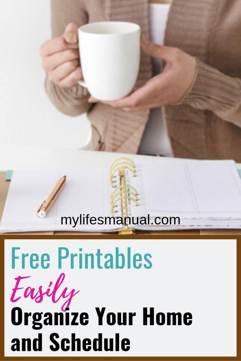 Free Home Management Printables - Easily Organize Your Home And Schedule