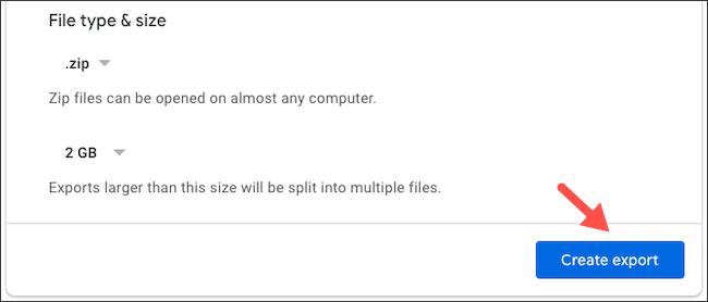 استخراج نسخة من بيانات Google Drive الخاصة بك