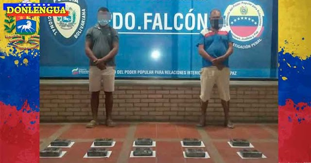 Dos detenidos por transportar 10 kilos de cocaína en Tucacas