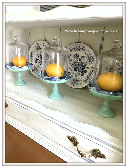 Late- Summer- Dining- Room- Decor-Lemons-From My Front Porch To Yours