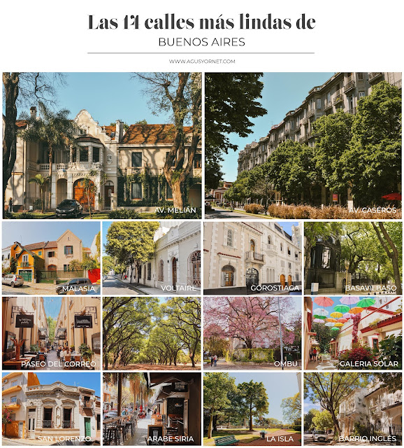 Las 14 calles más lindas de Buenos Aires  - Con mapa incluido