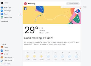 Cara Mengetahui Prakiraan Cuaca Facebook