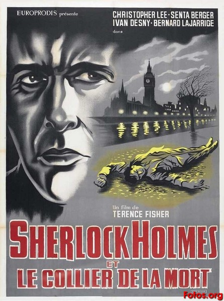 Resultado de imagen de Sherlock Holmes y el collar de la muerte (1962), de Terence Fisher y Frank Winterstein.