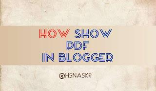 Hasan Askari: Cara Menampilkan PDF di Blogger Blogspot