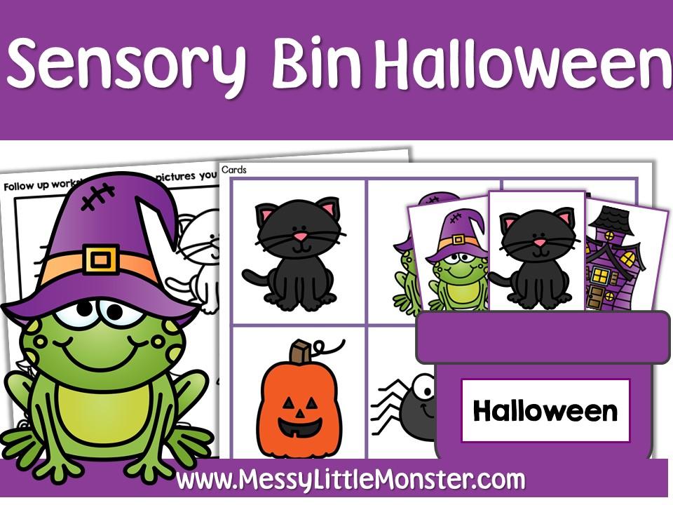 Halloween sensory bin printables